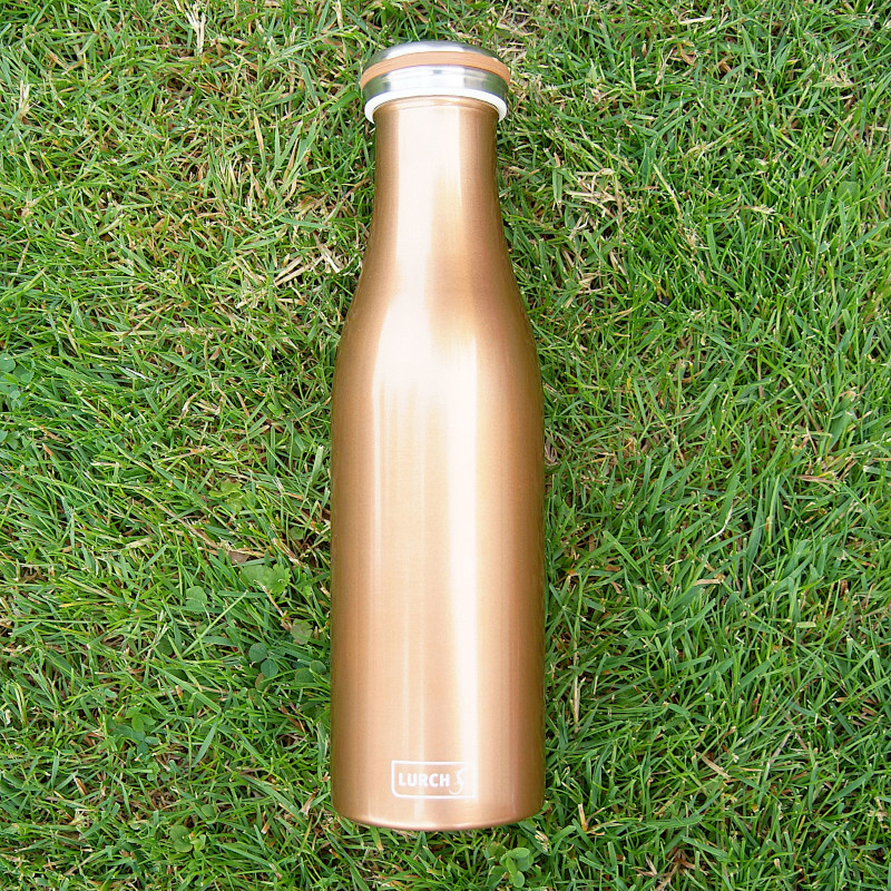 Isolierflasche bronze metallic
