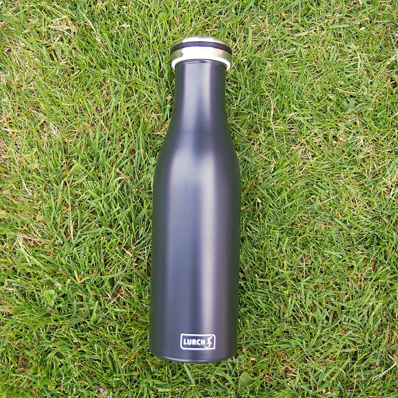 Isolierflasche Mattschwarz
